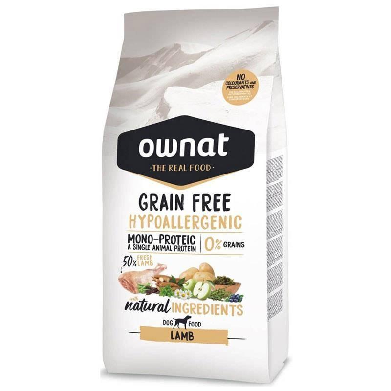 Croquettes Chien De Chasse Ownat Grain Free Hypoallergenic Lamb