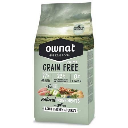 Croquettes Chien De Chasse Ownat Grain Free Prime Adult Chicken & Turkey
