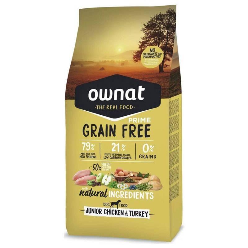 Croquettes Chien De Chasse Ownat Grain Free Prime Junior Chicken & Turkey