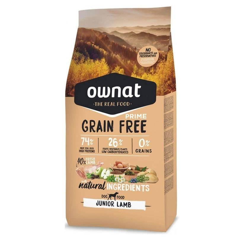 Croquettes Chien De Chasse Ownat Grain Free Prime Junior Lamb