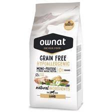 Croquettes ownat grain free hypoallergenic lamb