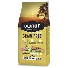 Croquettes ownat grain free prime junior chicken & turkey