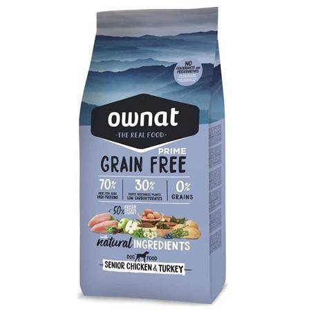 CROQUETTES OWNAT GRAIN FREE PRIME SENIOR CHICKEN & TURKEY