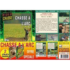 Dvd - chasse a l'arc - video chasse - lot de 2
