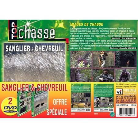 DVD - CHASSE SANGLIER CHEVREUIL - TOP CHASSE - LOT DE 2