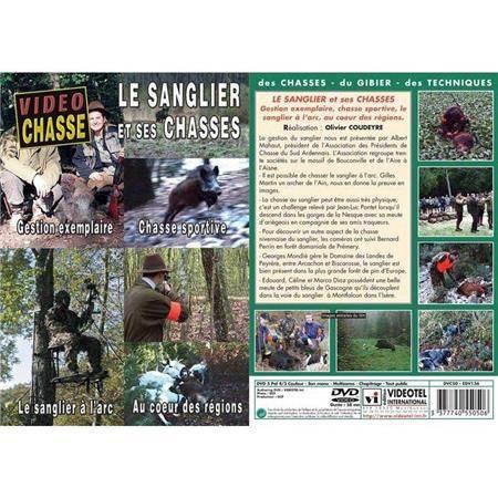 Dvd - Le Sanglier Et Ses Chasses - Gestion Exemplaire, Chasse Sportive, Le Sanlier À L'arc, Au Coeur Des Régions