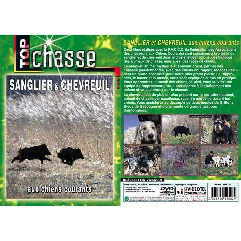 Dvd - Sanglier Et Chevreuil Aux Chiens Courants