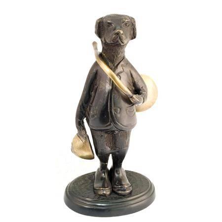 Figurine Bronze Avec Trompe Europ Arm