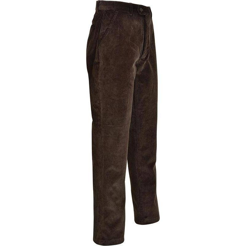 Fuseau Homme Percussion Velours Spandex Country - Marron