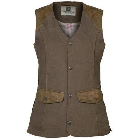 Gilet Chasse Femme Percussion Normandie - Bronze