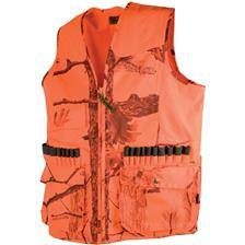 Gilet chasse homme treeland anti ronce 251n - camo orange 600d