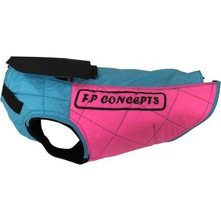 GILET DE PROTECTION F.P CONCEPTS CAUMONT AVEC CAPE - BLEU/ROSE