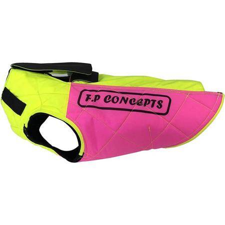 GILET DE PROTECTION F.P CONCEPTS CAUMONT AVEC CAPE - JAUNE/ROSE