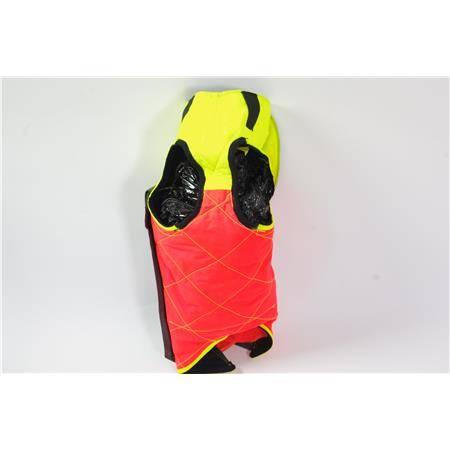 Gilet De Protection F.P Concepts Caumont Barbeles Avec Cape - Orange/Jaune - Bruno 3/4
