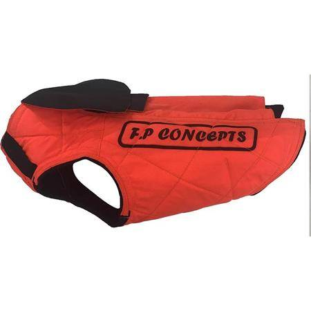 GILET DE PROTECTION F.P CONCEPTS CAUMONT BARBELES AVEC CAPE - ORANGE