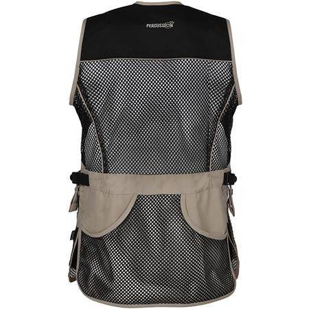 GILET DE TIR PERCUSSION BALL TRAP EVO - NOIR/BEIGE