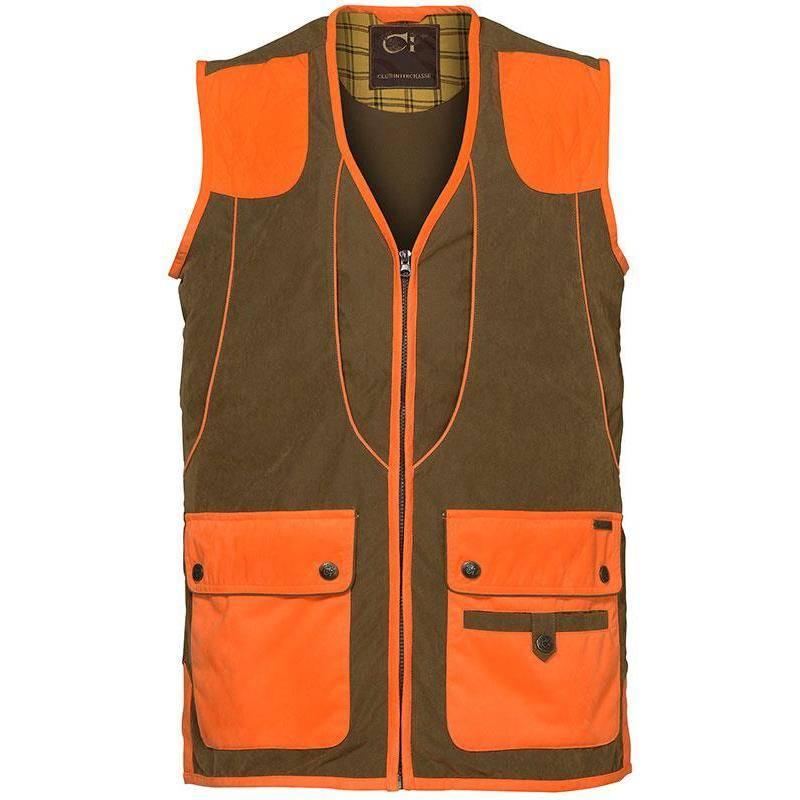 Gilet Homme Club Interchasse Cevrus - Tabac/Orange