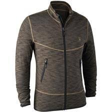 Gilet homme deerhunter norden insulated fleece jacket - brown melange