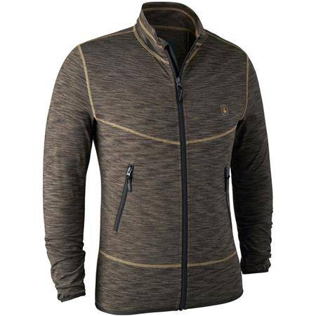 GILET HOMME DEERHUNTER NORDEN INSULATED FLEECE JACKET - BROWN MELANGE