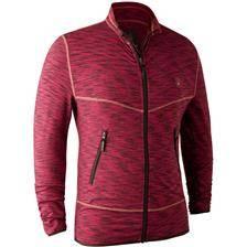 Gilet homme deerhunter norden insulated fleece jacket - red melange