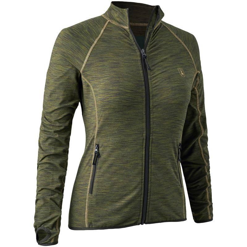 Gilet Polaire Femme Deerhunter Lady Insulated Fleece - Green Melange