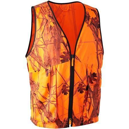 Gilet Sans Manche Homme Deerhunter Protector - Orange Camo