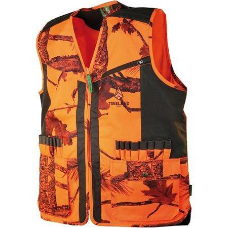 Gilet Sans Manche Homme Treeland T254 - Camou Orange