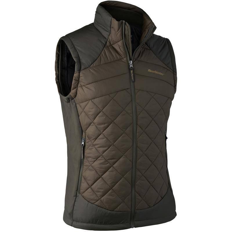 Gilet Sans Manches Homme Deerhunter Cumberland Quilted Waistcoat - Dark Elm