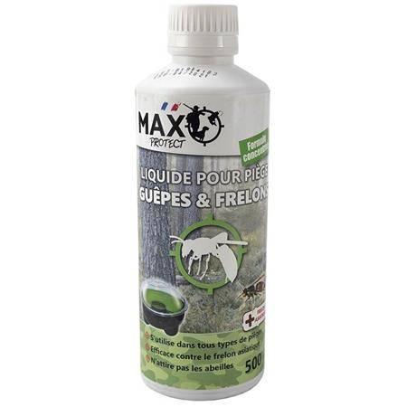 Insecticide Max Protect Pour Piege A Guëpes, Frelons Et Mouches - 500Ml