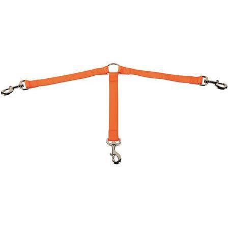 Laisse Tripleur Stepland Polyester - Orange
