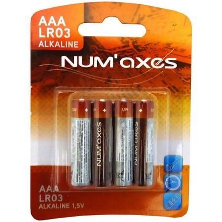 Pack 4 Piles Alcaline Numaxes Lr03 Aaa 1.5V