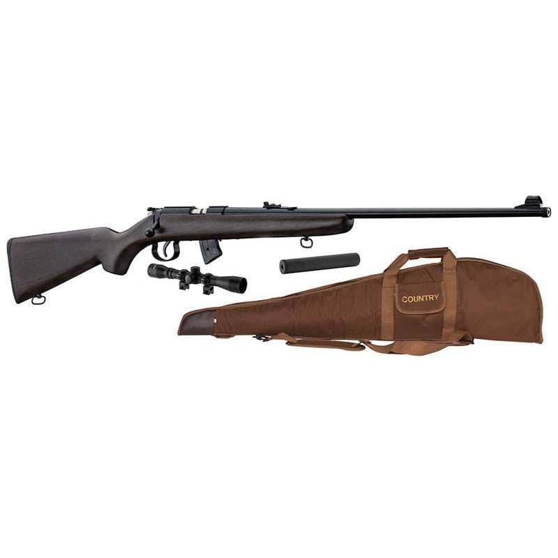 Pack Carabine 22 Lr Norinco Jw15 Bois + Lunette + Modérateur + Fourreau