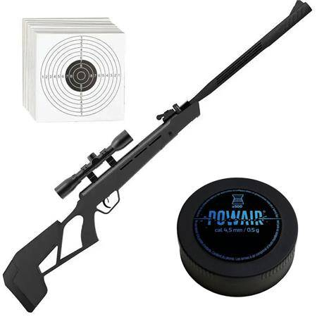 PACK CARABINE À PLOMB CROSMAN ELITE MAG FIRE MISSION NP + PLOMBS 4.5MM + CIBLE