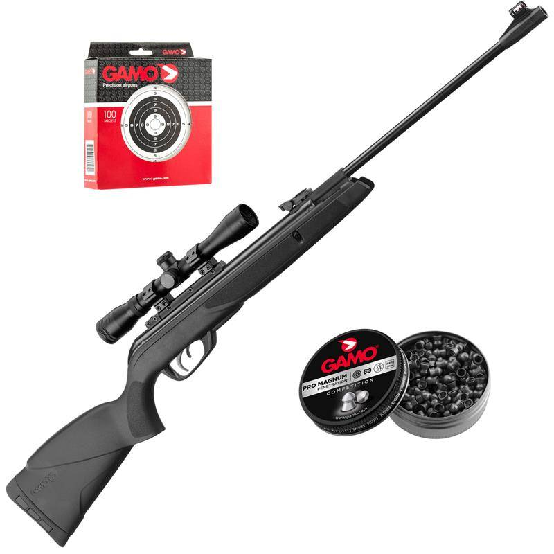 Pack Carabine A Plomb Gamo Pack Noël Black 19,9 J