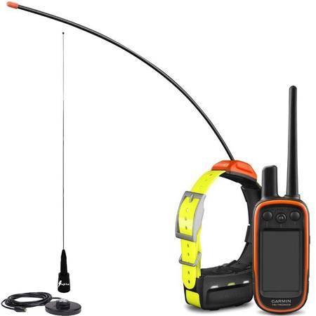 Pack Garmin Reperage Telecommande Alpha 100 Et Collier T5 + Antenne De Toit Supra Flex Black Edition
