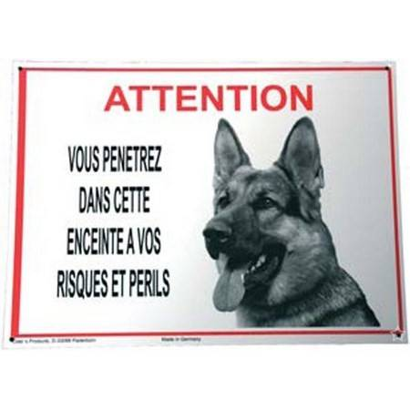 Panneau Avertissement Attention Berger Allemand