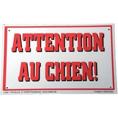 """Panneau Avertissement """"Attention Au Chien"""""""