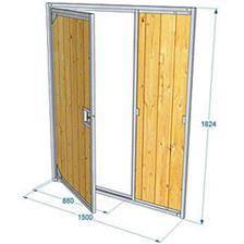 Panneau de chenil bois difac avec porte