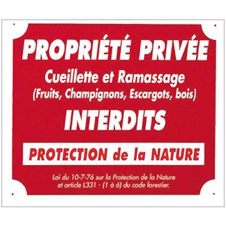 Panneau De Signalisation Europ Arm Propriete Privee Cueillette