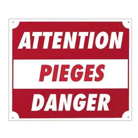 Panneau Signalisation Europ Arm Attention Pièges Danger
