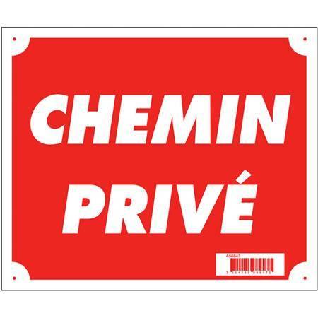 PANNEAU SIGNALISATION EUROP ARM CHEMIN PRIVÉ