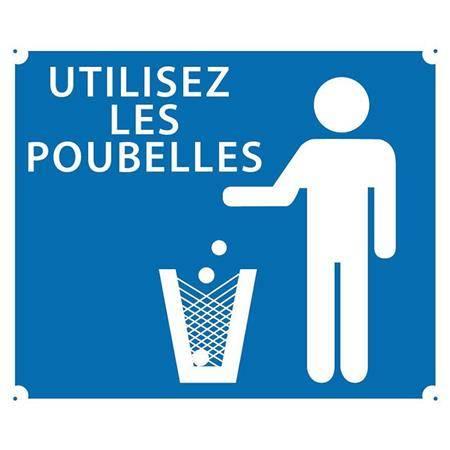 Panneau Signalisation Europ Arm Utilisez Les Poubelles