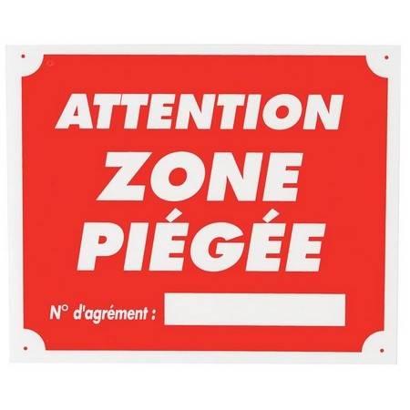 Panneau Signalisation Januel Attention Zone Piegee