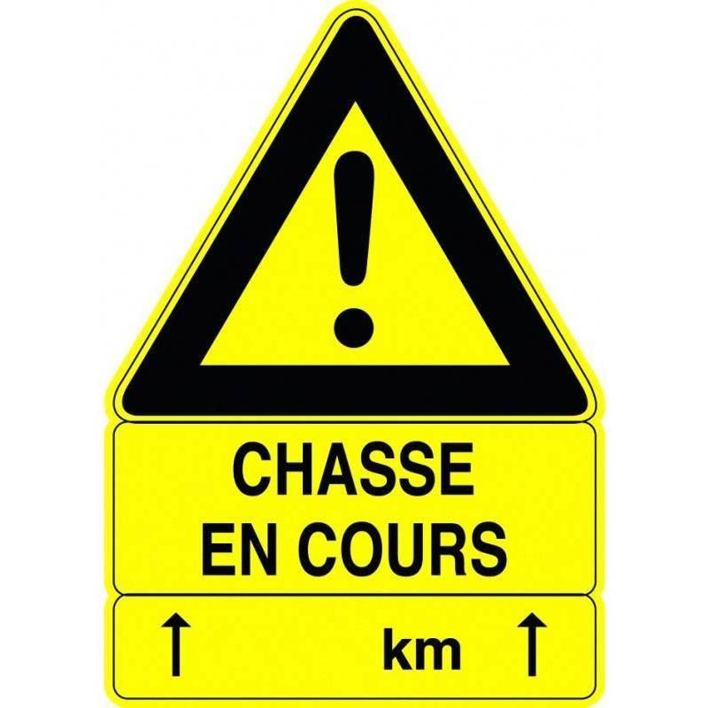 Panneau Signalisation Vitex Chasse En Cours