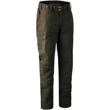 PANTALON DE TRAQUE HOMME DEERHUNTER MARSEILLE LEATHER MIX TROUSERS AVEC MEMBRANE - WALNUT
