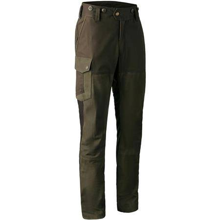 PANTALON DE TRAQUE HOMME DEERHUNTER MARSEILLE LEATHER MIX TROUSERS - WALNUT