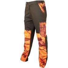 Pantalon de traque homme treeland t582 - vert/camou orange