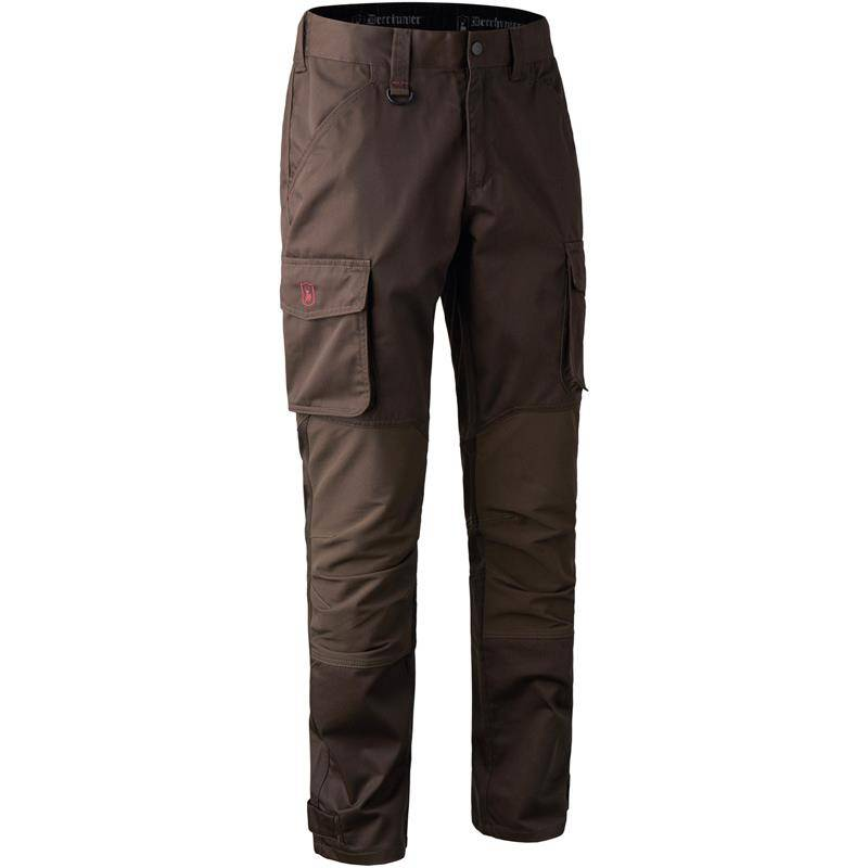 PANTALON HOMME DEERHUNTER ROGALAND STRETCH TROUSERS - BROWN LEAF - 52