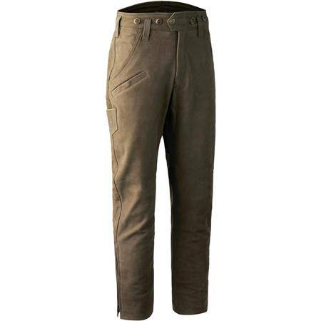 PANTALON HOMME DEERHUNTER STRASBOURG LEATHER BOOT TROUSERS - BROWN