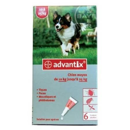 Pipette Insecticide Bayer Advantix 250 Chien Moyen